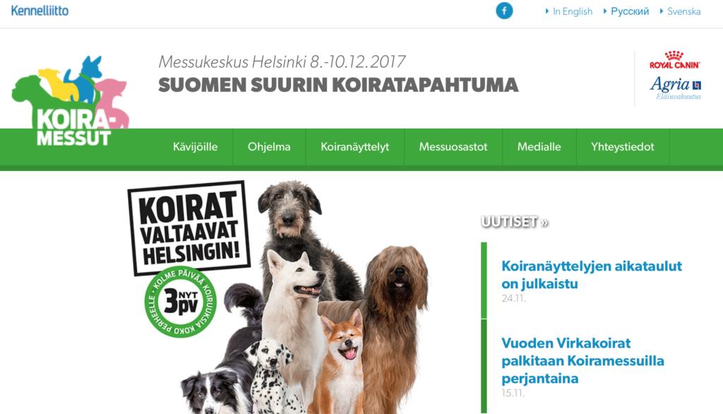 KILPAILU: Voita liput Koiramessuille 8-10.12.2017